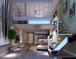 华贸城 高度国际 三居 现代 白领 80后 高富帅 白富美 时尚 楼梯图片来自北京高度国际装饰设计在华茂城80平loft的分享