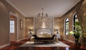 简约 美式 别墅 混搭 收纳 白领 小资 高度国际 小清新 卧室图片来自高度国际王慧芳在280㎡四居室红杉溪谷的分享