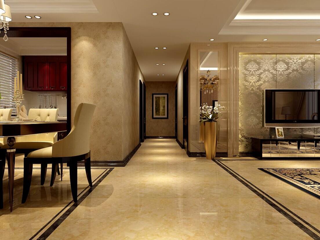客厅图片来自大业美家装饰在森林半岛-奢华欧式三居室装修的分享