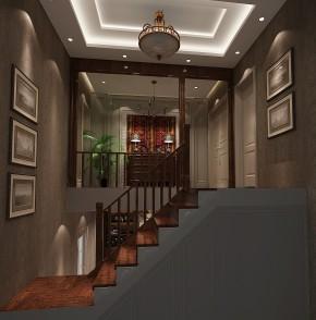 简约 托斯卡纳 高度国际 别墅 白领 80后 时尚 现代 温馨 楼梯图片来自北京高度国际装饰设计在15万打造浪漫托斯卡纳300平别墅的分享