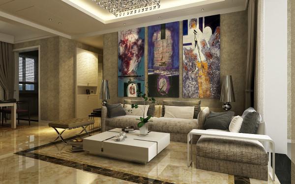本方案的风格为现代简约,线条简单,装饰元素少,加上色彩的调和使整个空间更加温馨明朗。