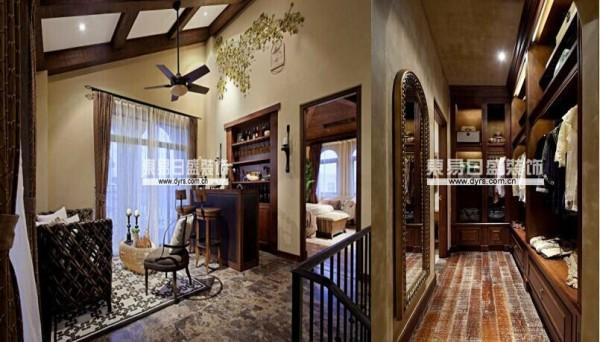 我们在空间组织结构设计中通过转角梯连接四层空间,门厅玄关处屏风半通透的处理消隐了结构柱带来的视觉压力,开敞式厨房自然引导人流转入餐厅、起居空间,空间豁然开朗。先抑后扬是对这一空间最好的诠释。