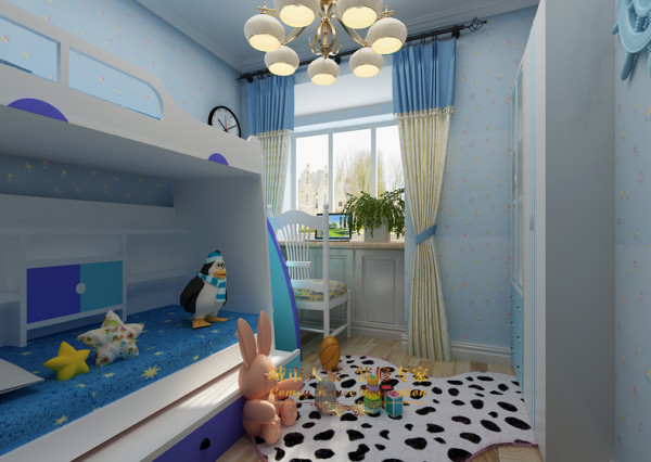 80平米地中海装修品鉴-卧室