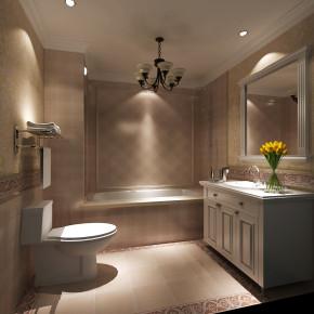 欧式 简约 混搭 收纳 小资 高度国际 小清新 温馨舒适 卫生间图片来自高度国际王慧芳在欧式风格天润福熙大道的分享