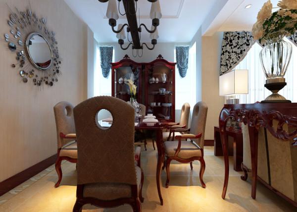 【林凤装饰】万科中央花园8区270㎡现代简欧-餐厅