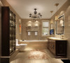 本设计遵循业主喜好,多处运用石材及软包,增添居所的奢华感。且茶色镜面的运用,使整体屋室视觉上显得更加拉伸。综合考虑屋室居住人口数量和生活习性,空间布局的开阔及顶面造型选择,均结合房屋空间