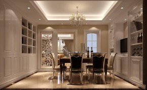 福熙大道 高度国际 三居 简约 80后 白领 时尚 白富美 高富帅 餐厅图片来自北京高度国际装饰设计在天润福熙大道122平温馨公寓的分享