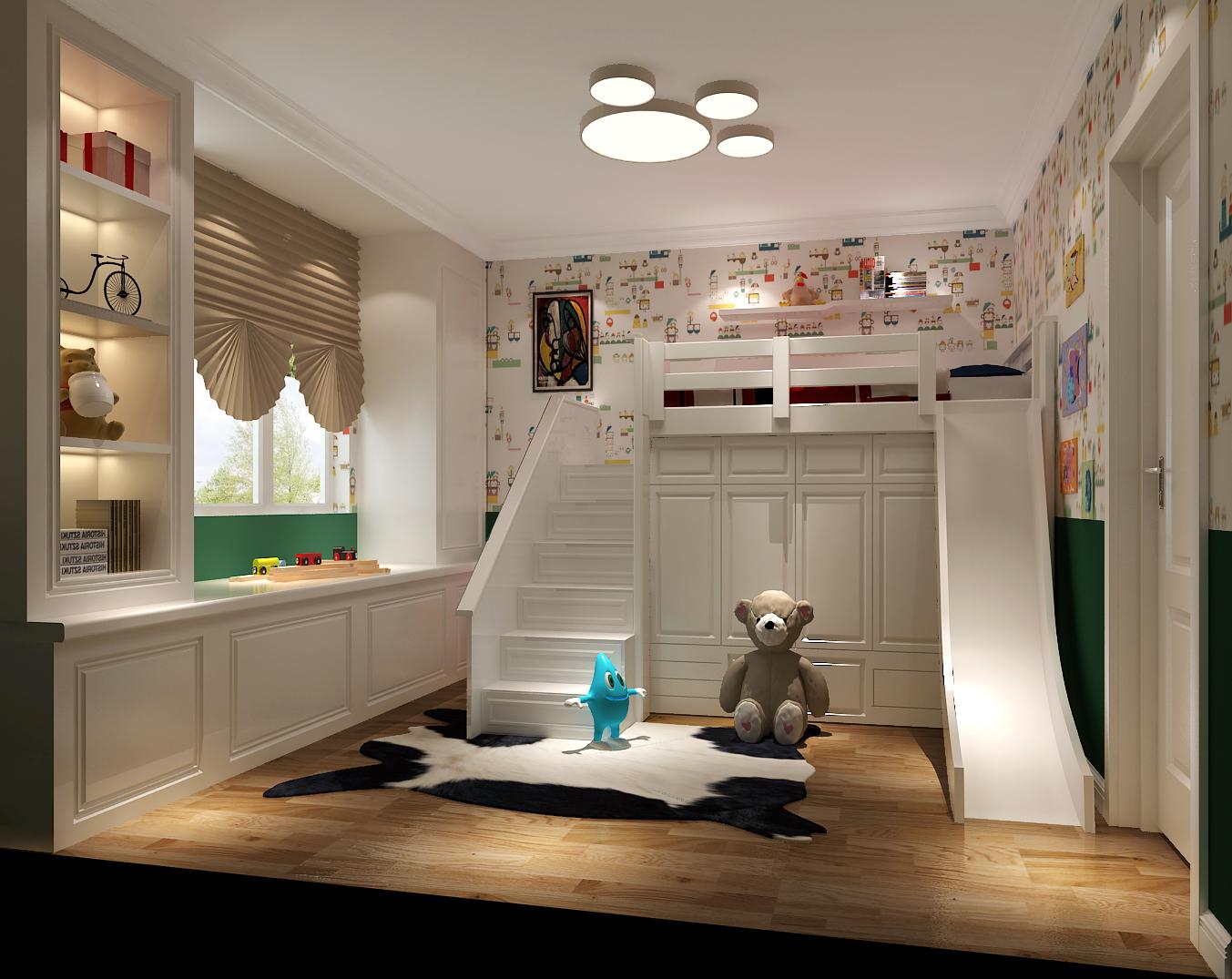 金色漫香苑 高度国际 别墅 美式 白领 80后 公寓 白富美 高富帅 儿童房图片来自北京高度国际装饰设计在金色漫香苑美式休闲公寓的分享