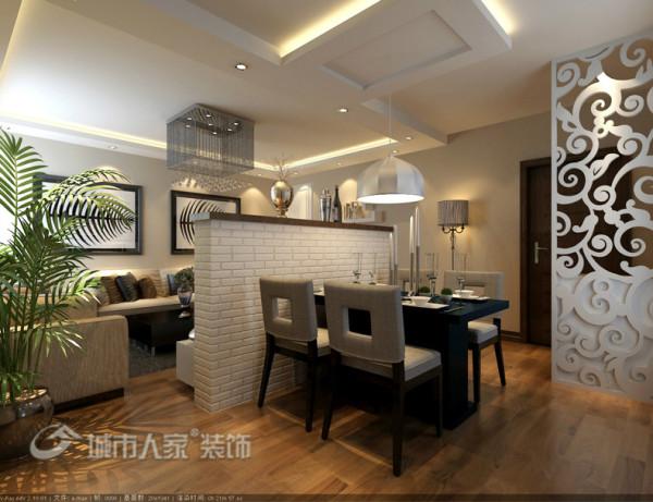 100平米温馨现代简约设计作品-餐厅