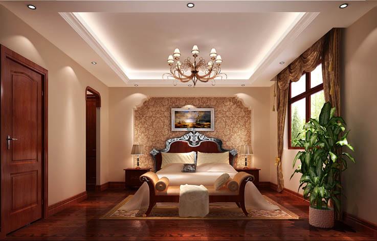 托斯卡纳范 卧室图片来自高度国际在15万打造龙山逸墅托斯卡纳范的分享