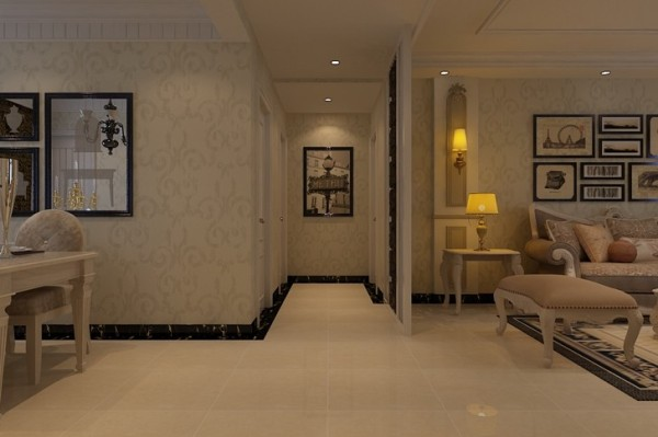 石家庄业之峰装饰-维多利亚二期115平米三居室欧式风格