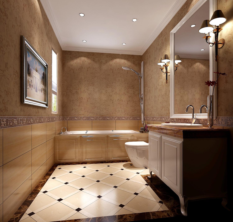 地中海 高度国际 三居 白领 80后 白富美 时尚 简约 高富帅 卫生间图片来自北京高度国际装饰设计在低调奢华地中海式鲁能的分享