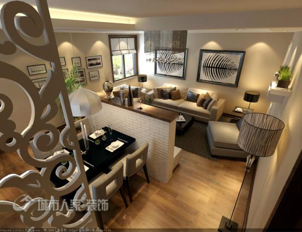 100平米温馨现代简约设计作品-客厅