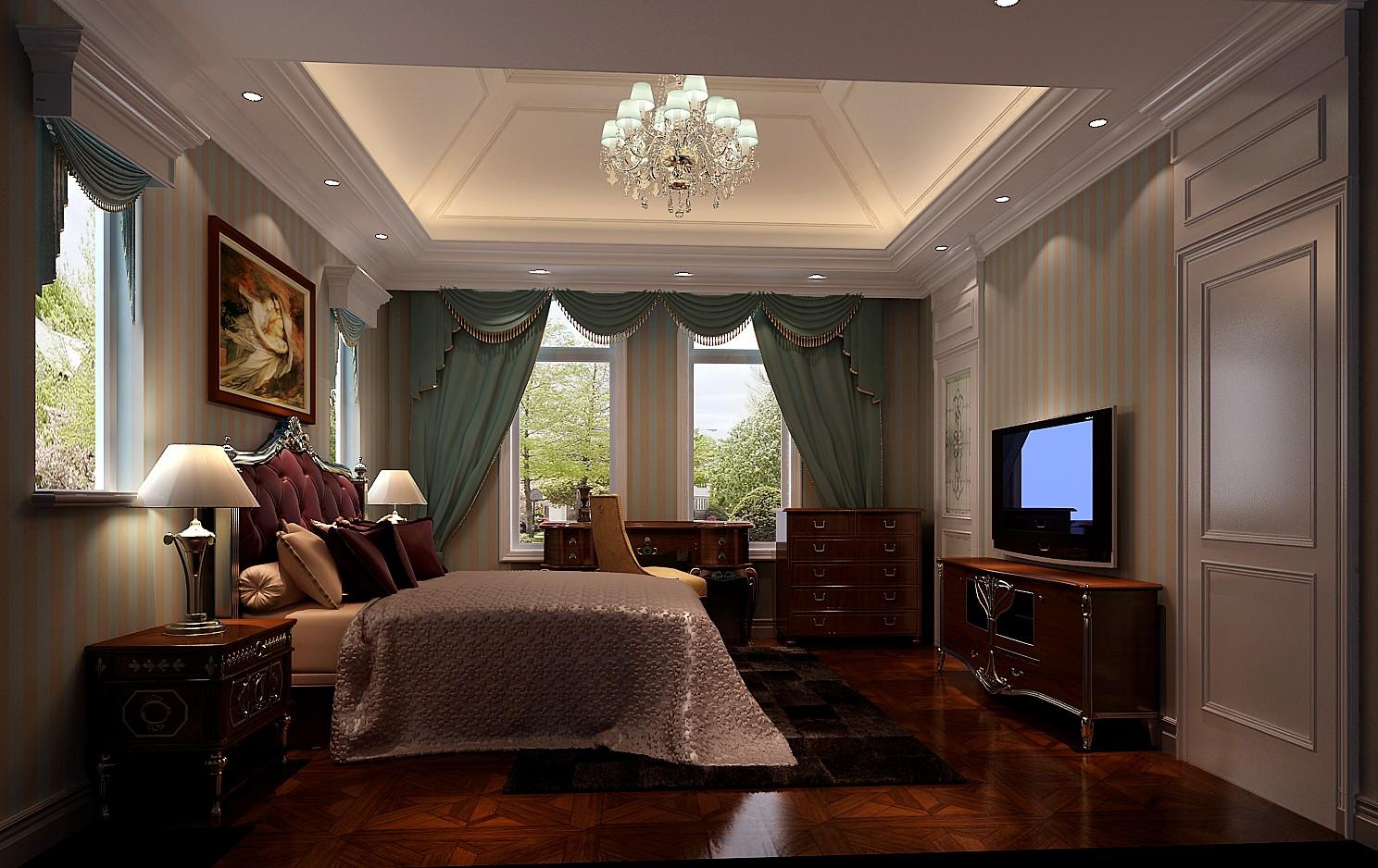 欧式 三居 混搭 别墅 白领 收纳 小资 高度国际 小清新 卧室图片来自高度国际王慧芳在15万打造欧式中海尚湖世家的分享