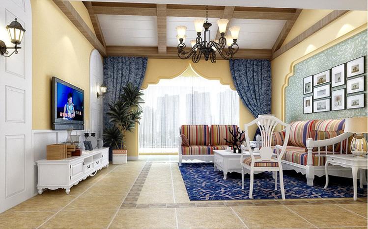 客厅图片来自xushuguang1983在23万打造125平米带阁楼田园三居的分享