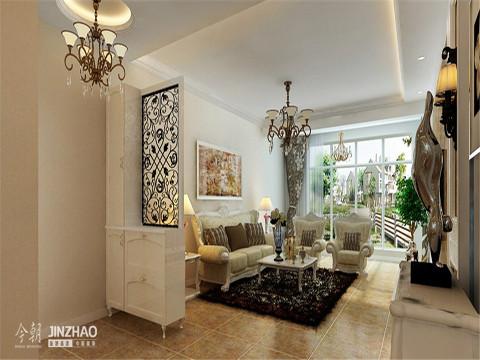 客厅:纵观客厅整体,简约而不简单,时尚大方,满足了我们对悠然自得的生活的向往和追求。