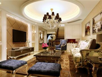 上海绿城臻园叠加别墅欧式新古典