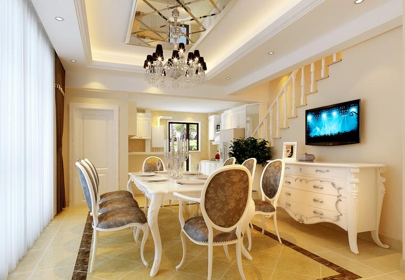 欧式 别墅 白领 收纳 80后 小资 餐厅图片来自实创装饰百灵在雍容华贵之气200㎡潮白河孔雀城的分享
