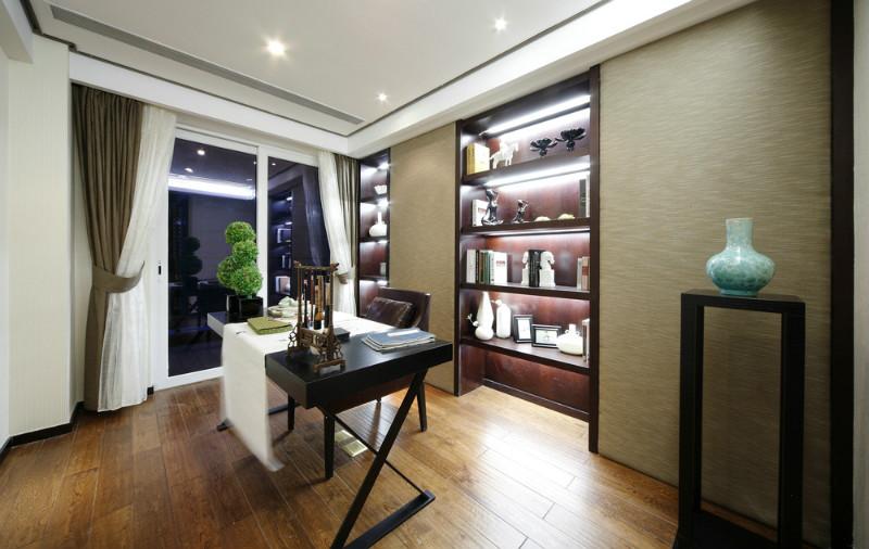 新中式 别墅 80后 小资 书房图片来自今朝装饰小魏在孔雀城新中式风格的分享
