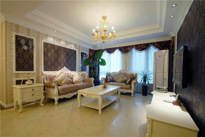 客厅图片来自山水人家装饰在世茂锦绣长江--120平简欧的分享