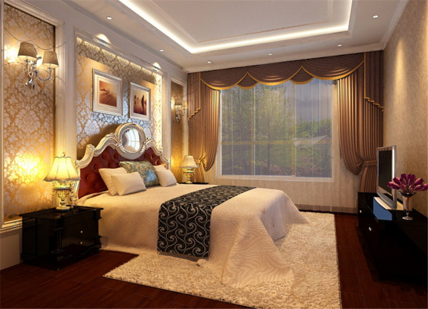 客厅鲜黄色壁纸,借由夸大、对比性强的黄银色调,为空间营造奢华的迷人魅力......
