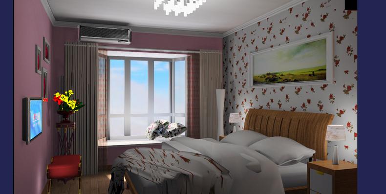卧室图片来自今朝装饰小闫在欧式 田园的分享