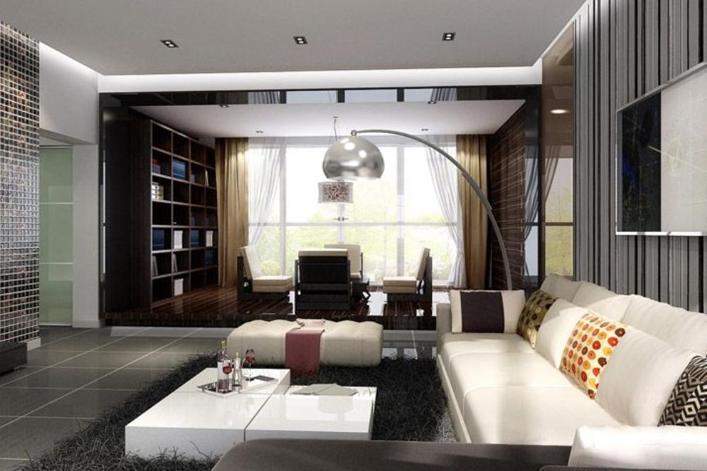 简约 二居 收纳 80后 客厅图片来自天津宜家宜装饰在天地 源欧筑1898的分享