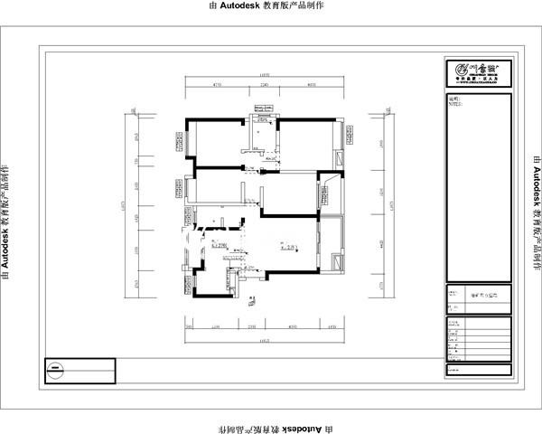 合肥川豪装饰重点开发小区—华润橡树湾145平平层/4室2厅1厨2卫。原始户型