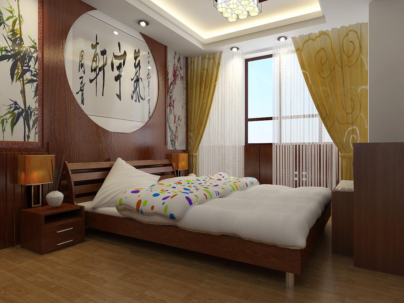 二居 餐厅 卧室图片来自青岛豪迈装饰有限责任公司在普吉新区中式效果图的分享