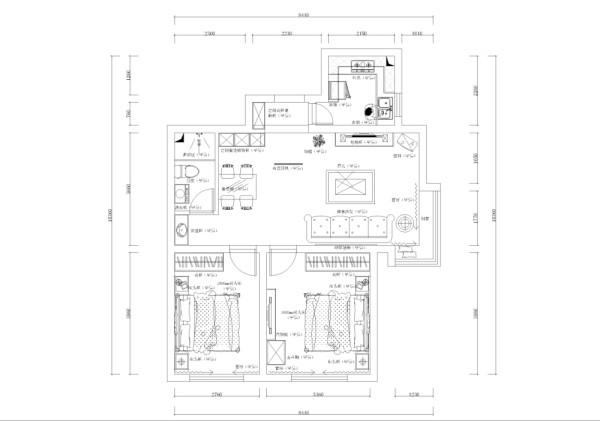 入户门正左侧是柜子,右侧厨房,厨房是正方形,有窗。向前行进左侧是餐厅区域,右侧是客厅区域,客厅餐厅为一体,客厅有飘窗,采光充足。