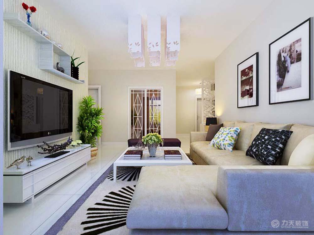 简约 二居 别墅 白领 收纳 80后 小资 客厅图片来自阳光力天装饰梦想家更爱家在金泰丽湾B户型3室1厅92平米的分享