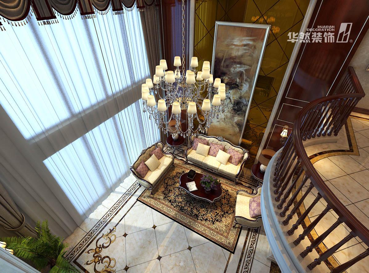 欧式 复式 学府名都 华然装饰 客厅 卧室 欧式效果图 客厅图片来自华然装饰汪园在华地学府名都260平欧式-华然装饰的分享