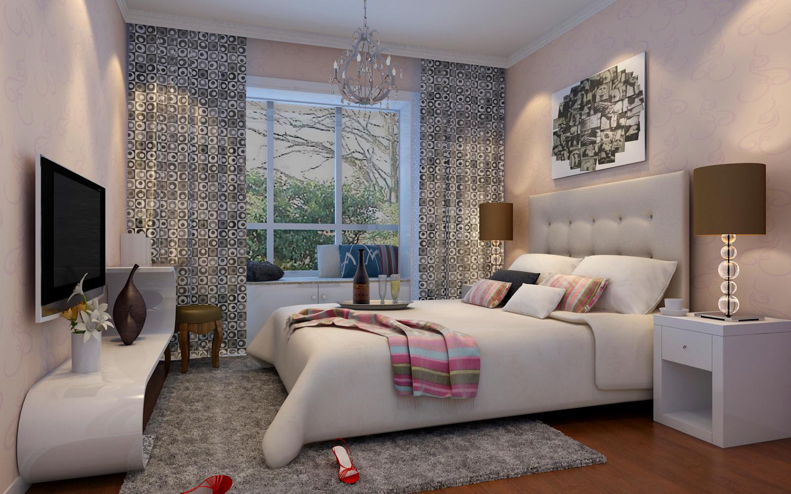 简约 二居 白领 收纳 80后 小资 卧室图片来自实创装饰百灵在设计简洁却有不失潮流感90㎡两居的分享