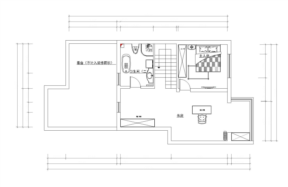 简约 白领 80后 小资 四室 两厅 户型图图片来自阳光力天装饰梦想家更爱家在尚清湾四室二厅二卫185平米的分享