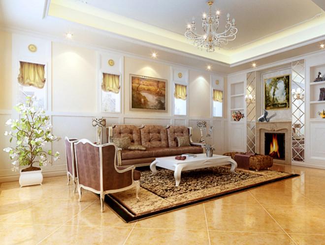 欧式 别墅 客厅图片来自今朝装饰小俊在浪漫欧式别墅装修的分享
