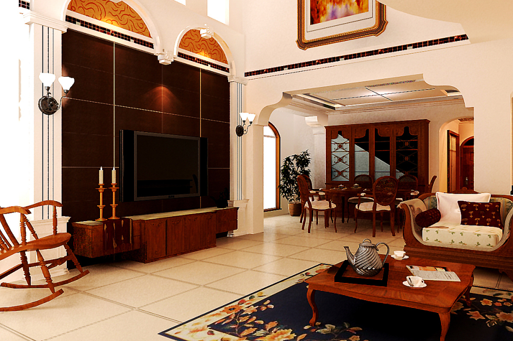 欧式 别墅 收纳 玄关图片来自天津宜家宜装饰在津南新城的分享