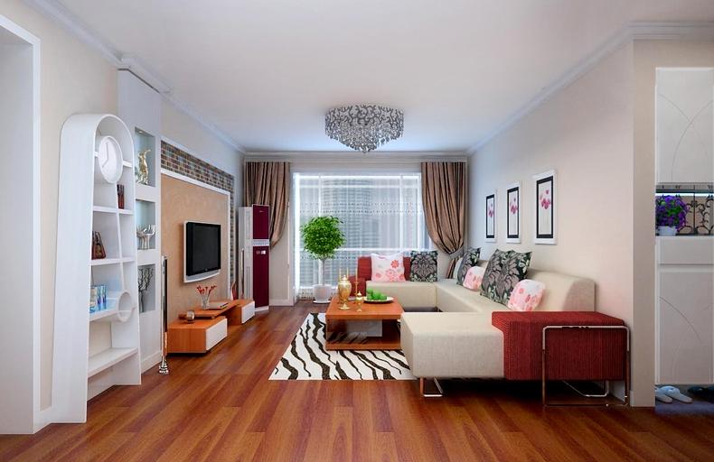 客厅图片来自今朝装饰小闫在中加锦园的分享