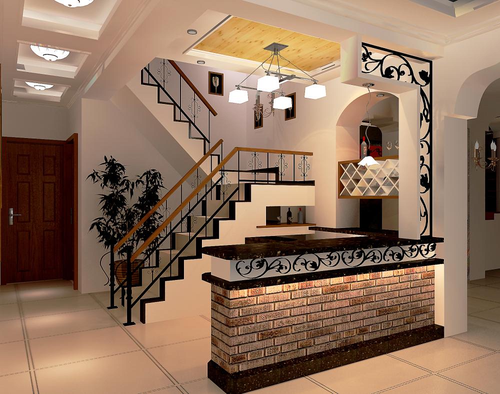 欧式 别墅 收纳 楼梯图片来自天津宜家宜装饰在津南新城的分享