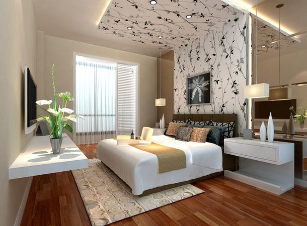 简约 欧式 二居 白领 卧室图片来自实创装饰上海公司在完美舒适的简欧婚用空间的分享