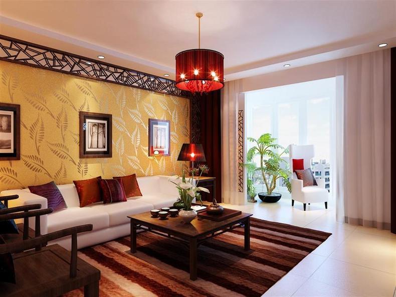 客厅图片来自今朝装饰小闫在现代——中式风格的分享