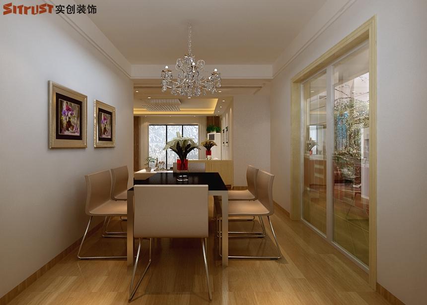 欧式 田园 混搭 二居 三居 别墅 简约 餐厅图片来自北京实创集团在石家庄保利花园装修-98平B5户型的分享