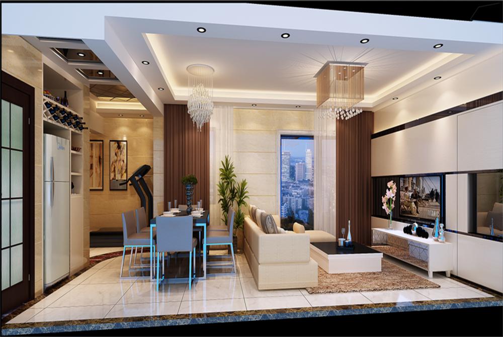客厅图片来自深圳市浩天装饰在景庭苑的分享