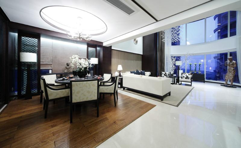新中式 别墅 80后 小资 客厅图片来自今朝装饰小魏在孔雀城新中式风格的分享