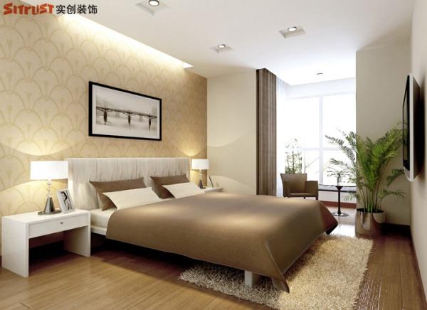 雍和慢城-90平米G户型2居装修-卧室效果图