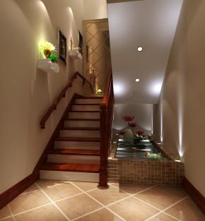 美式 田园 复式 温馨 白领 小资 楼梯图片来自高度国际装饰刘玉在首开常青藤主力户型的分享