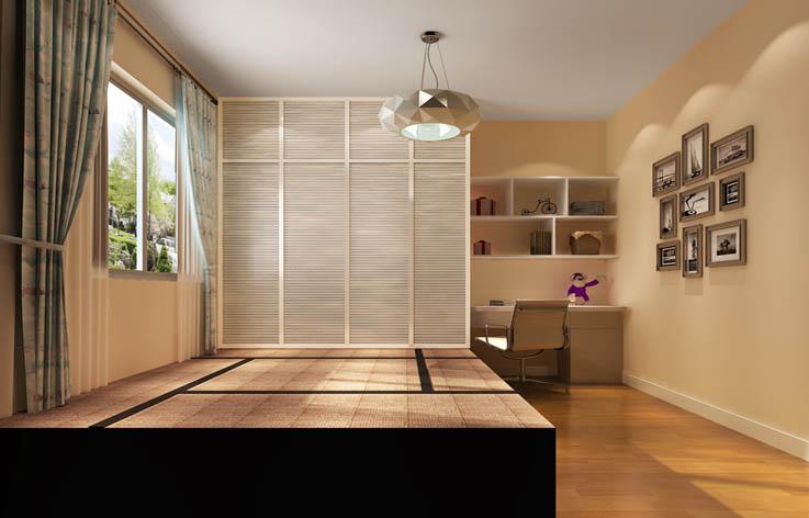 现代 二居 80后 小资 白领 收纳 卧室图片来自高度国际装饰刘玉在3.5万打造健康温馨家居的分享
