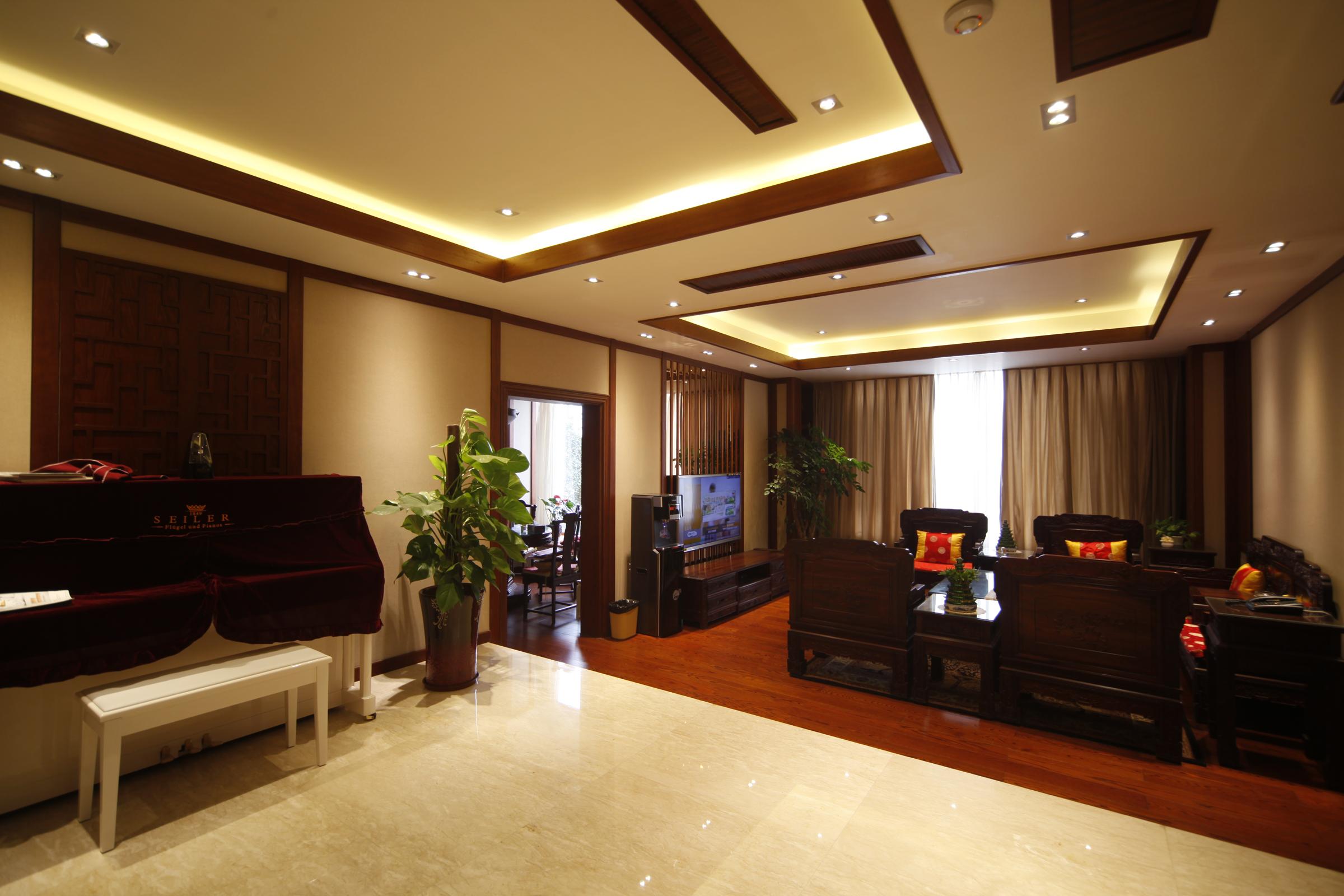 别墅 中式 客厅图片来自成都家和在西江紫苑中式的分享