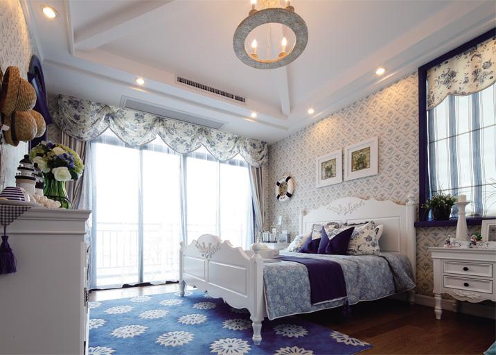 武汉实创 城投瀚城 地中海 三居 小资 卧室图片来自静夜思在城投瀚城甜蜜地中海幸福简约婚房的分享