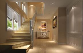 欧式 简约 别墅 小资 温馨 楼梯图片来自高度国际装饰刘玉在永定河孔雀城叠翠园的分享