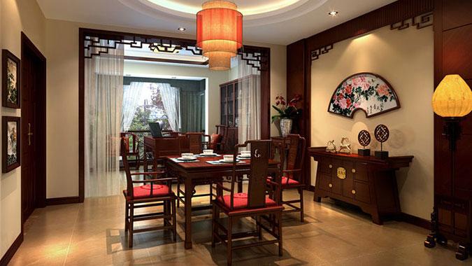 三居 新中式 龙湖 北京装修 北京设计 别墅设计 别墅装修 餐厅图片来自高度国际装饰韩冰在8万打造龙湖时代天街三居新中式的分享